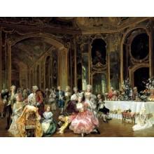 Handgemalte dekorative klassische Figurmalerei