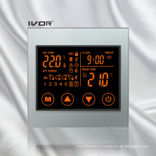 Programmable Underfloor Heating Thermostat Touch Switch Acrylic Frame (SK-HV100L8-L/M-W)