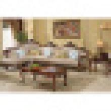 Sofá de couro real para a mobília da sala de visitas (D812)