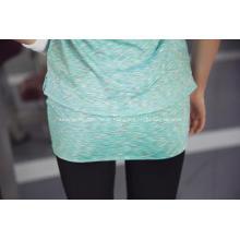Short Sleeves Woman Sport Absorb Sweat Fitness