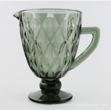 Solid Color Glass Pitcher with Handle