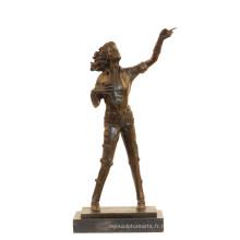 Musique Bronze Sculpture Pop Star Michael Jackson Déco En Laiton Statue Tpy-852