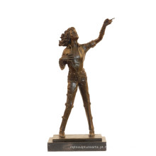 Música Bronze Escultura Estrela Pop Michael Jackson Deco Estátua De Bronze Tpy-852