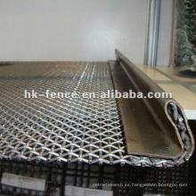 Malla de alambre prensada galvanizada sumergida caliente de la venta caliente para minar