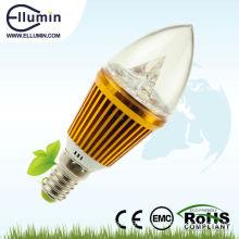 led candle light 3w e14 golden shell