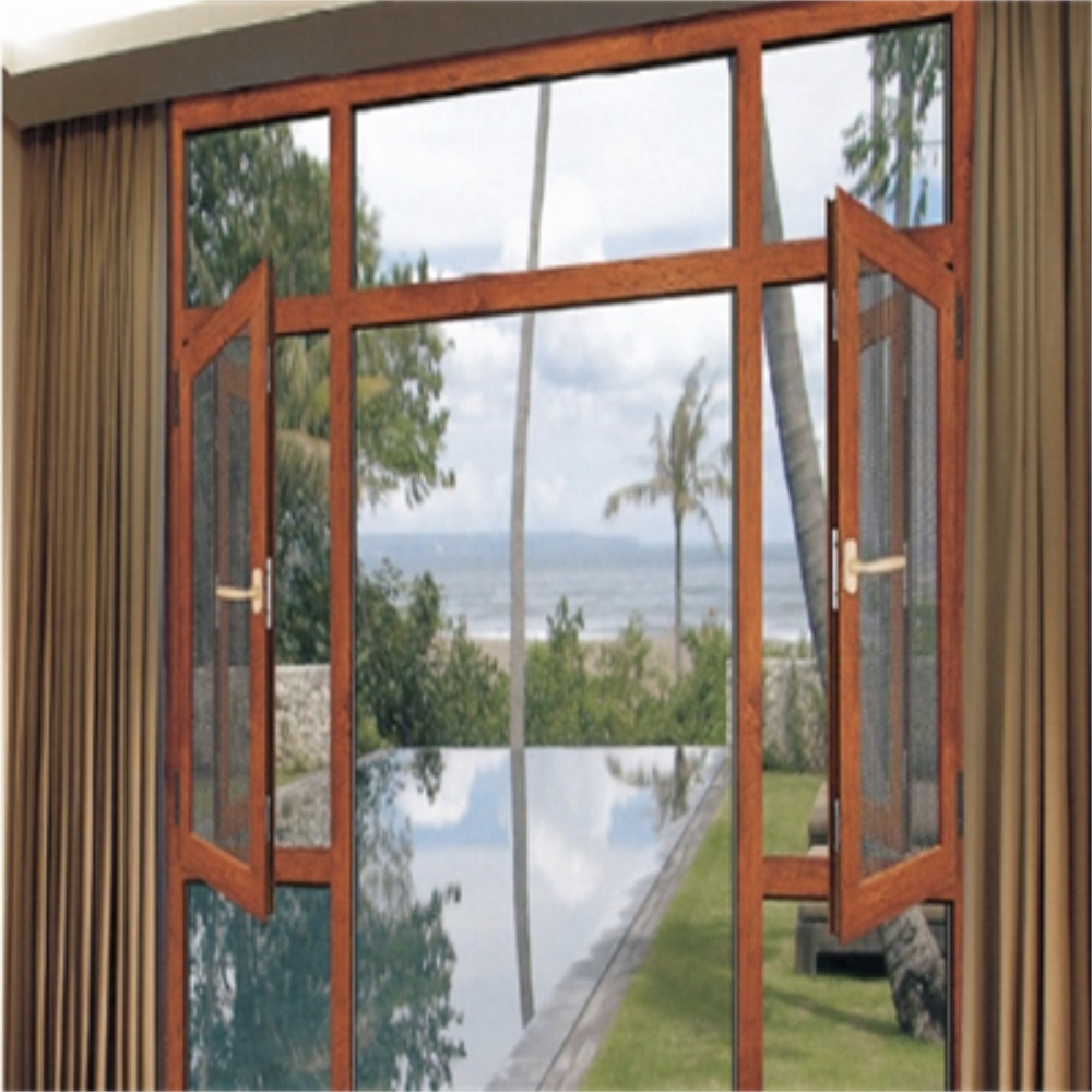 casement window with diamond mesh
