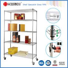 5 Tiers Storage Rack Commercial Grade, Metal Racks Shelving