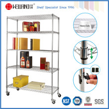 5 Tiers Storage Rack Grade Comercial, Racks de Metal Estantes