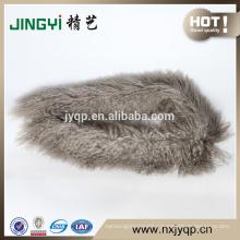 Wholesale Beautiful Ningxia Tibet Curly Sheepskin Fur Scarf