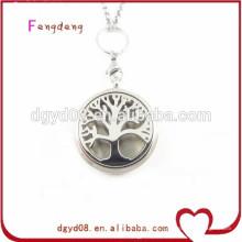 New arrival fashion custom stainless steel jewelry set locket pendant wholesale