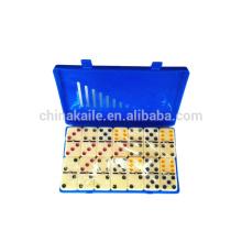 Ivory Color dots domino In color plastic box