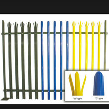 D Section Pales Palisade Fencing