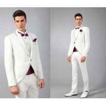 Großhandelsmannkleidung 2017 neuer Entwurf nach Maß weiße Mannhochzeitsklage