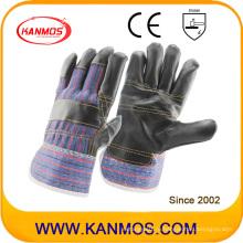 Темная мебель из натуральной кожи Промышленные рабочие защитные перчатки (310021)