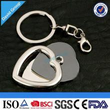 Porte-clés promotionnel en métal fait sur commande de fournisseur de nouveaux produits chinois