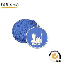 Выдвиженческий горячий пресс-мультфильм логотип искусственная зеркала для поездок сувениры