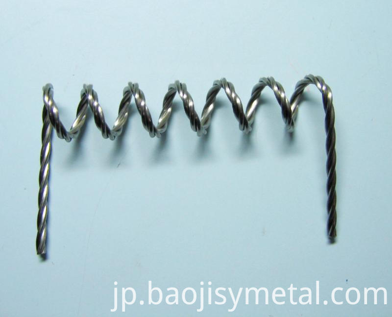 twisted titanium wire