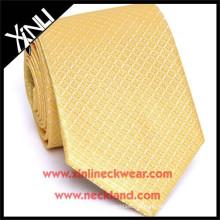 Alta qualidade artesanal gravata chinesa fabricantes de seda tecida gravata de ouro magro