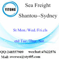 Shantou Port LCL Consolidation To Sydney