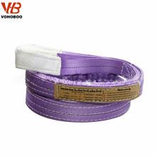 Estilingue de levantamento liso do webbing do poliéster 100% tecido resistente da luva de VOHOBOO 5T