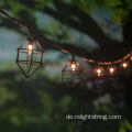 Outdoor 10 Glühbirne String Light Metal Diamonds