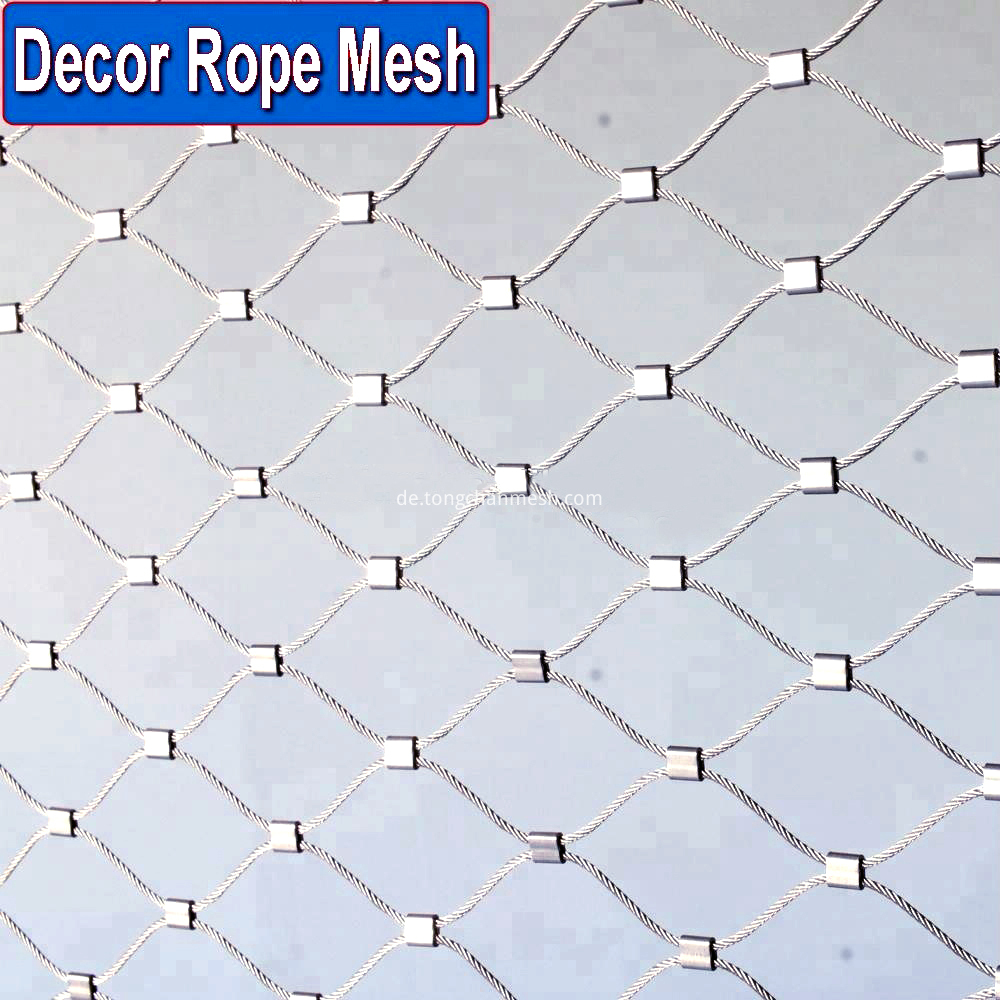 Flexible Stainless Steel Wire Rope Mesh netting
