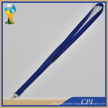 Blank Blue Lanyard with Safety Buckle by The Side