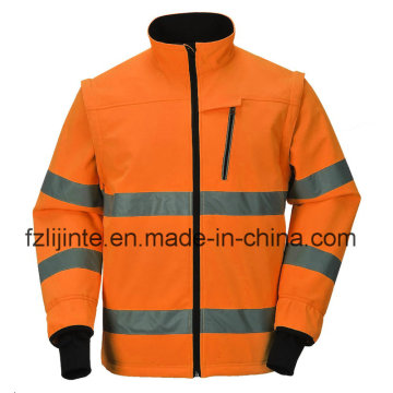 Protective Workwear High Visibility Safety Jacket with Reflective Tape