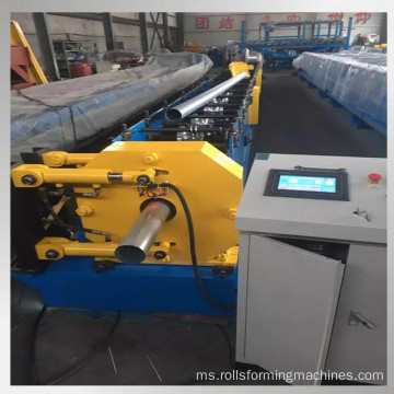 rolling steel rainpipe color forming machine