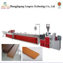 Línea de producción de piso de jardín de plástico de madera