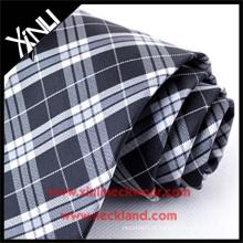 Seco-limpo Apenas Jacquard tecido de seda pescoço gravata xadrez tecido preto e branco
