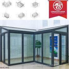 Factoy Custom Sun Room, Casa de vidro de alumínio, Moda e Confortável Full View House