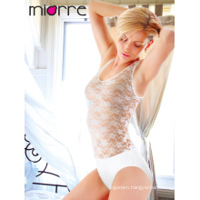 MIORRE SLEEVELESS WOMEN BODYSUIT WITH LACE & SNAP