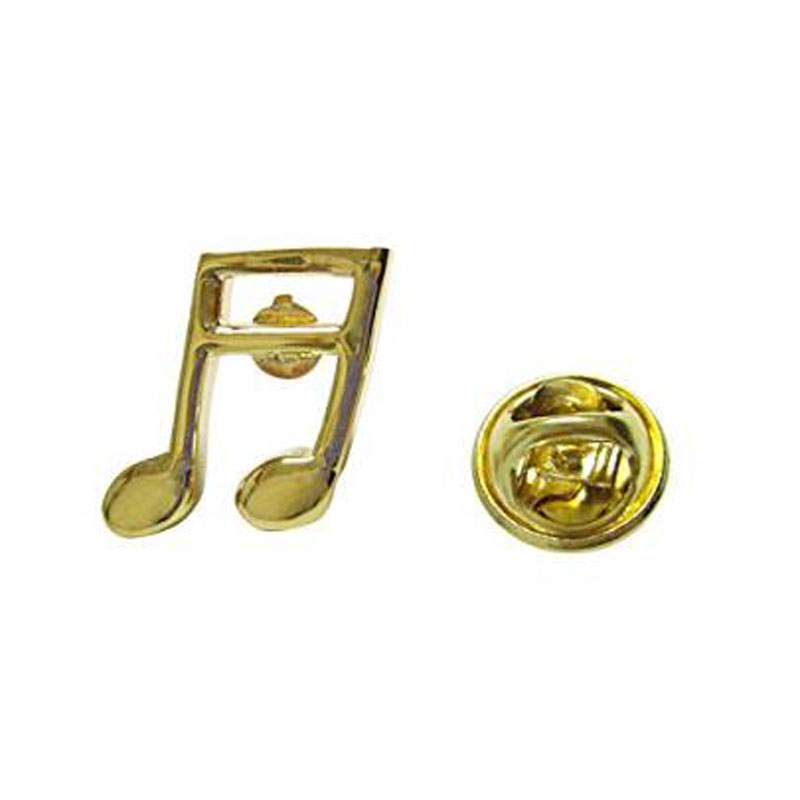 Gold Toned Quaver Musical Note Lapel Pin
