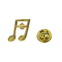 Novelty Quaver Catatan Musik Lapel Pins