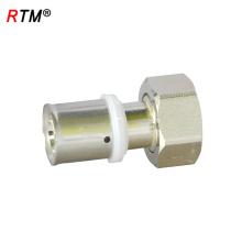 L 17 4 13 brass press fitting water pipe press fitting female union press fittings for pex-al-pex pipe