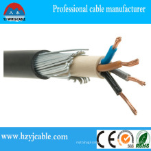 Underground Electrical Wire XLPE Steel Wire Armoured Power Cable 4X70mm2