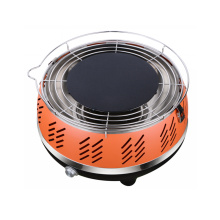 Portable Smokeless Churrasco Grill Carvão com saco de transporte