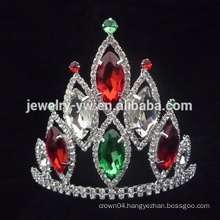 2015 New Style Yiwu Wholesale Factory Supplier Nice Romantic Hot Sale Fashion Elegant Alloy Colorful Crystal Tiara Crown