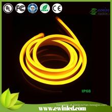 220V DIP amarelo neon flex light com Miky White PVC