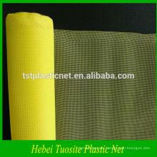 pantalla de ventana de plástico amarilla