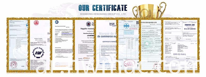 certificate for small wheel loader