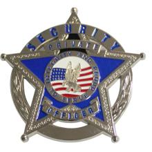 Badge de police à cinq étoiles
