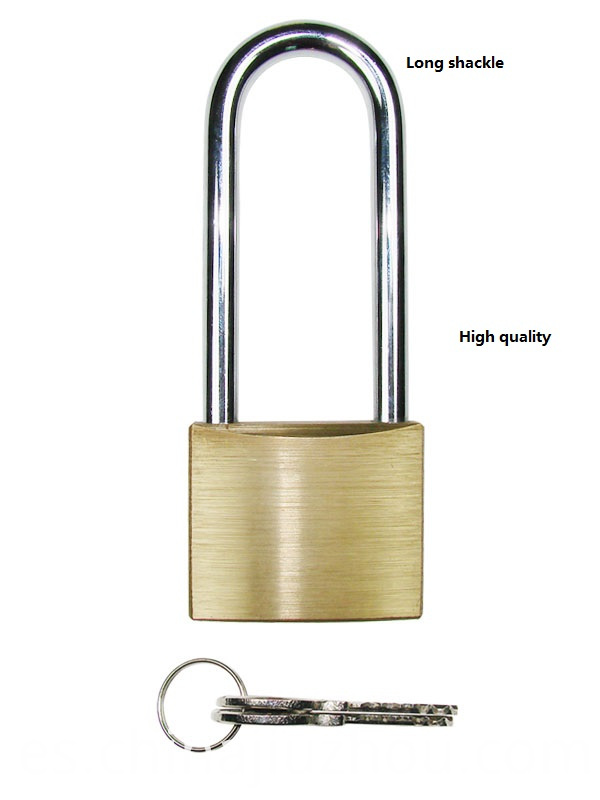 Long Shackle Brass Padlock