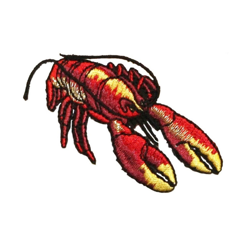 Red Lobster Ocean Fishing Mbroidered Patch