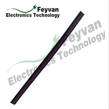 Colored PVC Insulated Rainbow Flat Cable