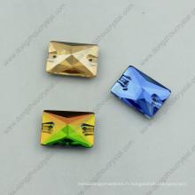 Rectangle coudre sur des pierres de verre pour la décoration de vêtement