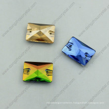 Rectangle Sew on Glass Stones for Garment Decoration
