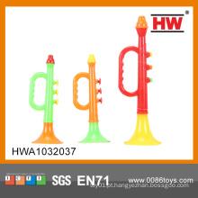 Alta qualidade barata plástico trompete brinquedo (3pcs)