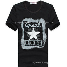 Camisa orgânica dos homens T do algodão, forma T Camiseta